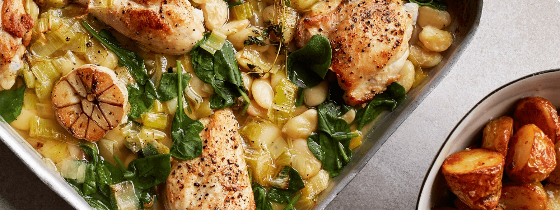 CroppedFocusedImage192072050-50-TRAY-BAKED-CHICKEN-WITH-BUTTER-BEANS-LEEKS-AND-SPINACH